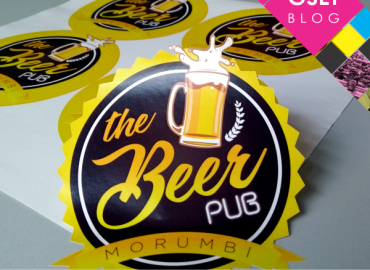 """Adesivos do The Beer Pub. Abaixo a chamada para o post: """"Como são feitos os adesivos?"""""""