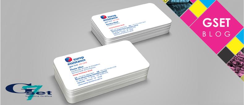 Itens de papelaria para empresa - Cartão de visitas